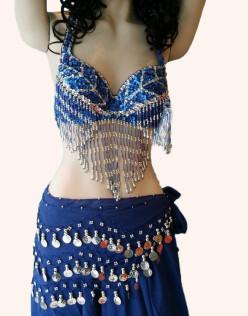 Στολή Οριεντάλ γυναικεία Μπλε / Ασημί