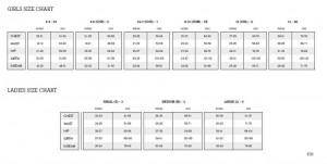 BLOCH-SIZE-CHART