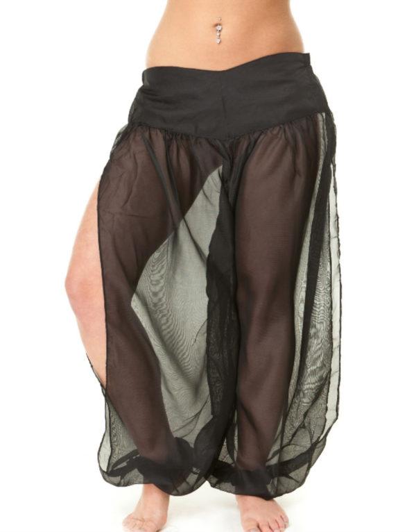 Παντελόνι οριεντάλ σιφόν με σκίσιμο στα πλαϊνά