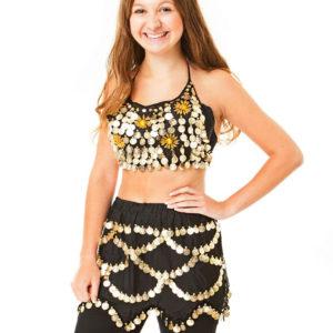 Belly dance set με μπούστο και φούστα