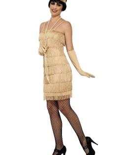 Φόρεμα με κρόσσια αμάνικο με λεπτή τιράντα