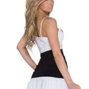 Αμάνικο Γυναικείο Φόρεμα με βολάν στο τελείωμα