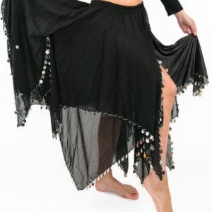 Φούστα οριεντάλ διακοσμημένη με πούλιες