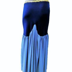 Φούστα οριεντάλ μπλε - ασημί