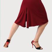 Φούστα tango σε μπορντώ - γκρι χρώμα