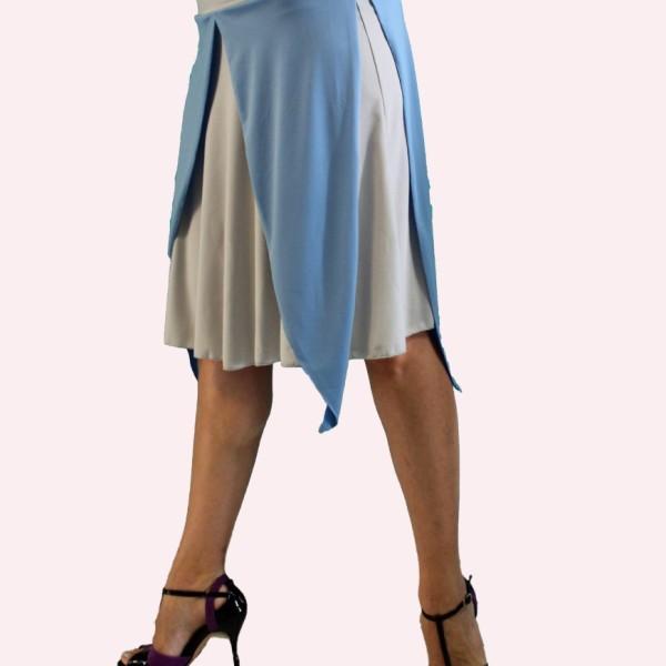 Tango φούστα σε γαλάζιο - γκρι χρώμα