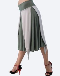 Tango φούστα σε λαδί – γκρι χρώμα
