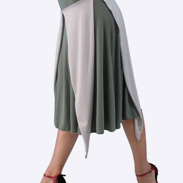 Tango φούστα σε λαδί - γκρι χρώμα