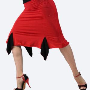 Τάνγκο φούστα σε κόκκινο- μαύρο χρώμα