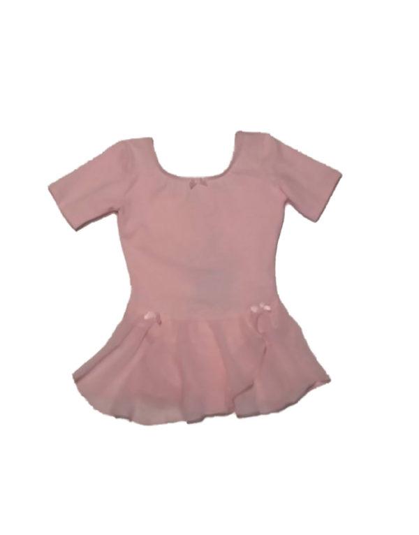 Κοντομάνικο κορμάκι παιδικό με φούστα