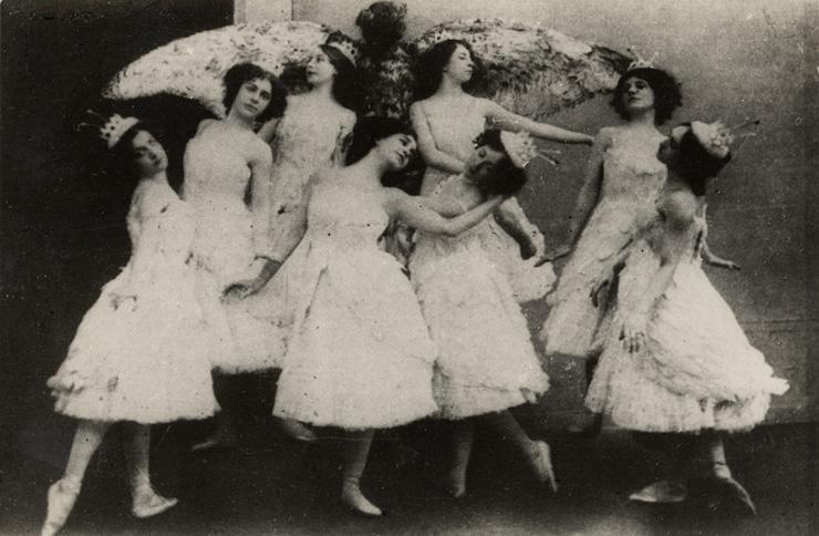 Ιστορία του μπαλέτου : Ρωσίδες Μπαλαρίνες του θιάσου της Αγίας Πετρούπολης 1910