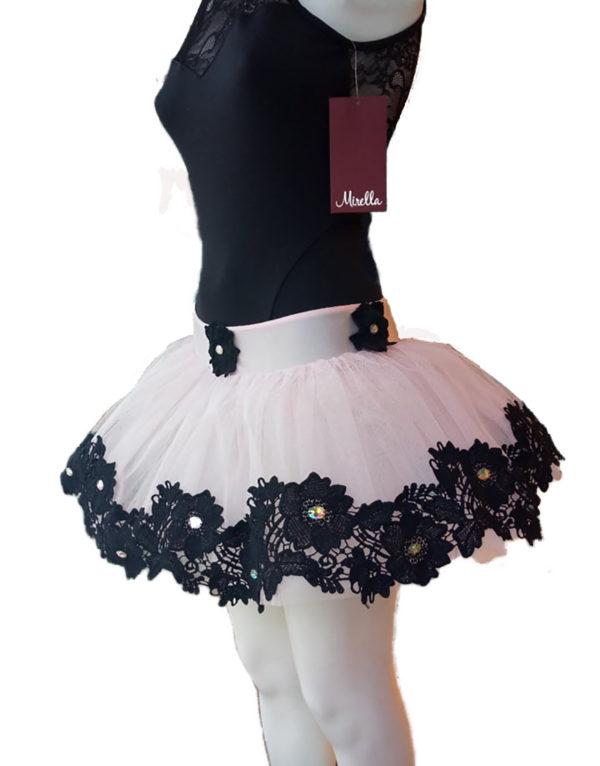 Φούστα τουτού γυναικεία ροζ-μαύρο