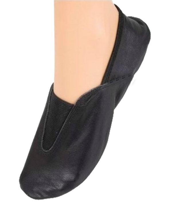 Δερμάτινα παπούτσια ενόργανης γυμναστικής Go Dance σε μαύρο χρώμα.