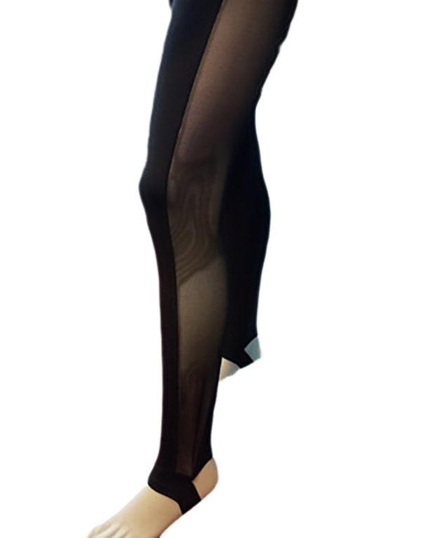 Ολόσωμη φόρμα χορού με διαφάνειες FM5120C